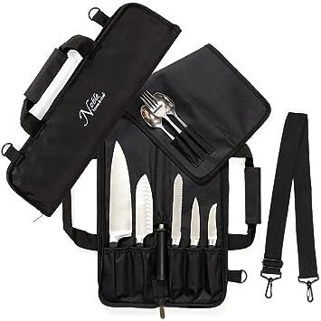 Cuchillo de chef bolsa de rollo (6 ranuras) es acolchado y ...