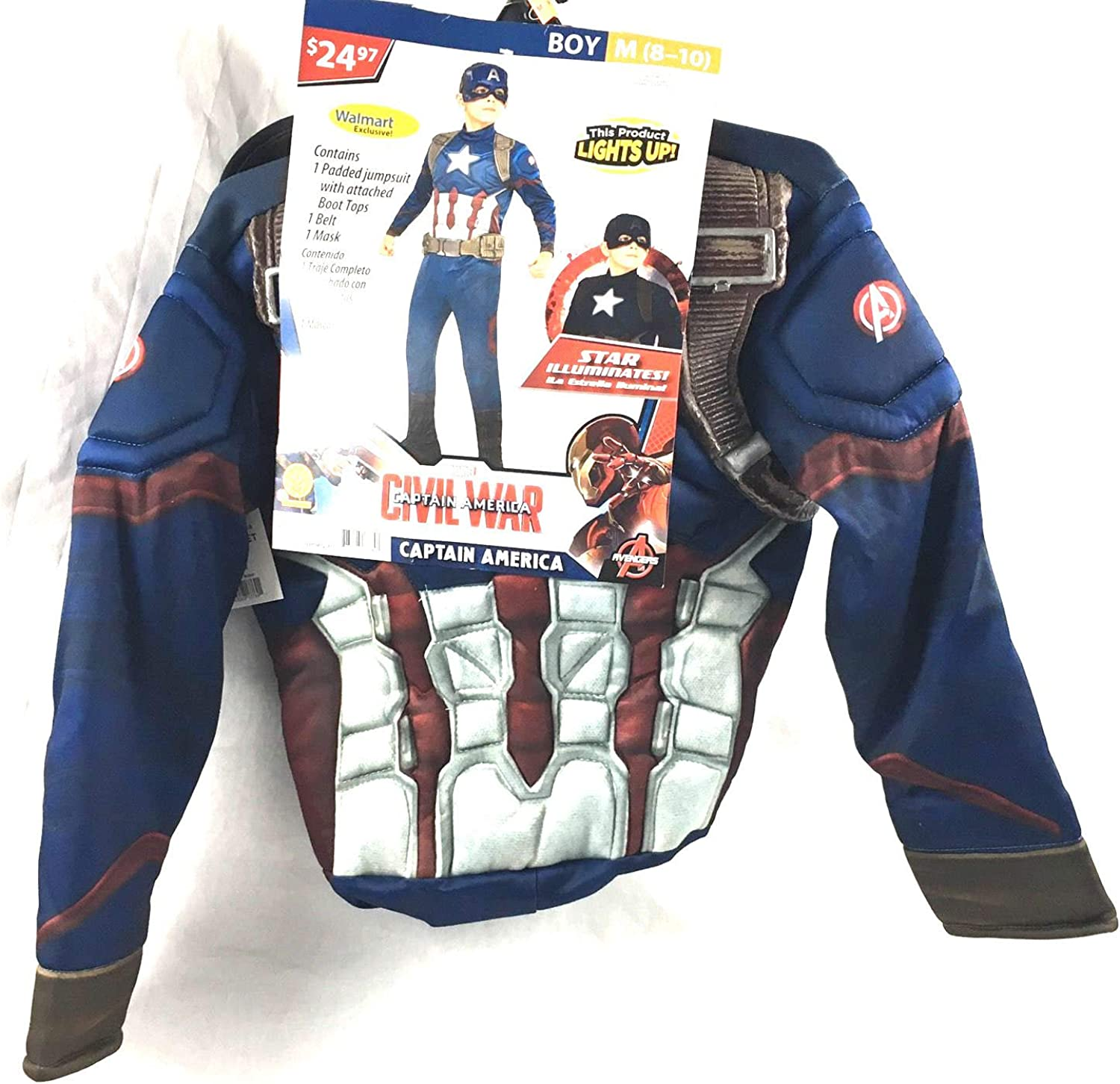 Amazon Com Marvel Civil War Captain America Youth M 8 10 Costume Star Lights Up Clothing Enjoy up to 60% off for cyber week! amazon com