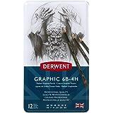 Derwent Graphic Medium Graphite Drawing Pencils, Set of 12, Professional Quality, 34214