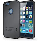 iPhone 6 6S Case With Stand 3 Layer Shock Absorbing TPU Interior MobileZoneInfo Hybrid Kickstand Light Weight Tough Armor Protective Case for iPhone 6 (4.7-Inch) - MobileZoneInfo