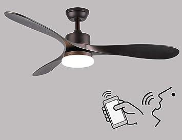 Ventilador de techo inteligente Alexa de 52 pulgadas con luz ...