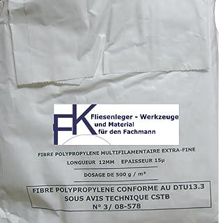 M/örtel Beton fasern HQ+ Beton Gips 150 g Original Polypropylen FASER f/ür Estrich