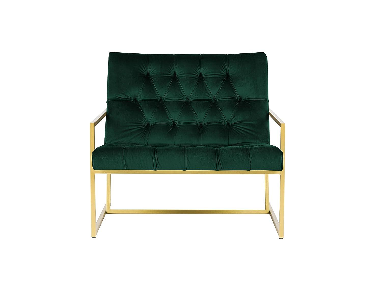 Mazzini Sofas - Silla, Tela, Verde, 89 x 85 x 78 cm: Amazon ...