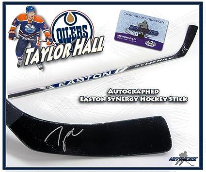 ec5b5e4f2 Taylor Hall Autographed Hockey Stick - EASTON w COA - Autographed NHL Sticks