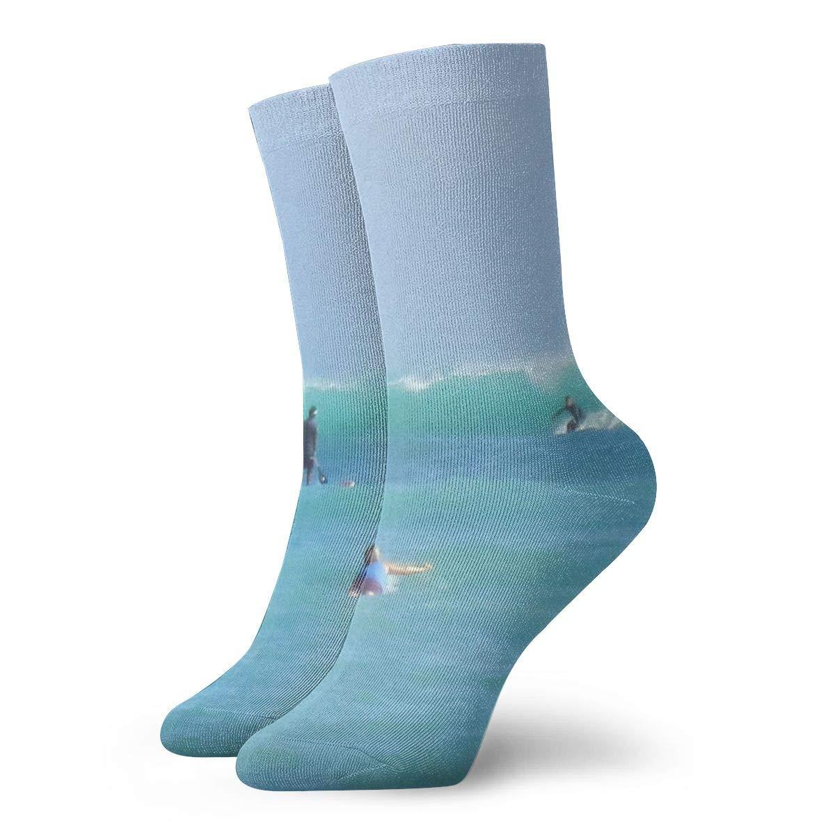 WEEDKEYCAT Hawaii Summer Beach Surfing Adult Short Socks Cotton Fun Socks for Mens Womens Yoga Hiking Cycling Running Soccer Sports