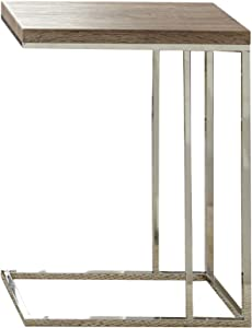 """Steve Silver Company Lucia Chairside End Table, 10"""" x 18"""" x 25"""", Brown"""