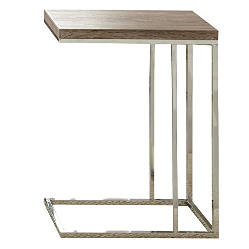 Steve Silver Company Lucia Chairside End Table, 10 x 18 x 25 , Brown