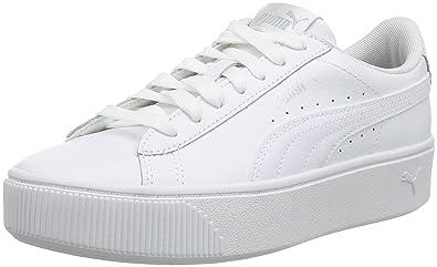 puma basket blanche femme