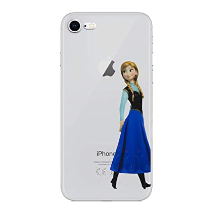 online store 05167 277be iPhone 5/5s Cartoon Silicone Phone Case / Gel Cover for Apple iPhone 5s 5  SE / Screen Protector & Cloth / iCHOOSE / Anna