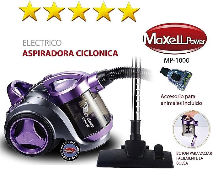 Gsh- Maxell Power Aspiradora ciclónica sin Bolsa y Boquilla para ...