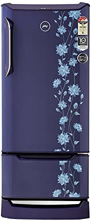Godrej 255 L 4 Star Direct Cool Single Door Refrigerator(RD EDGE DUO 255 PD INV4.2 ERICA BLUE, Erica Blue, Base Stand with Drawer, Inverter Compressor)