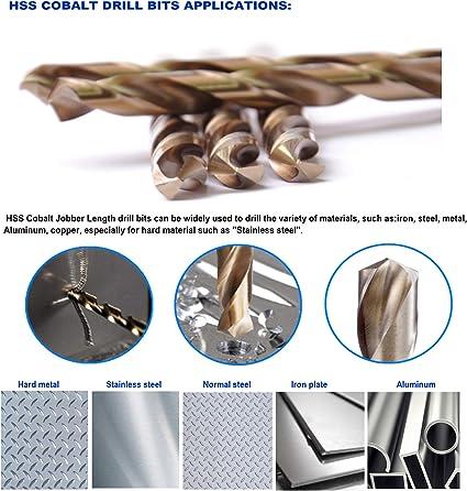 ITM 219CO1064 135-Degree Cobalt Jobber Drill 5//32 12 Pack