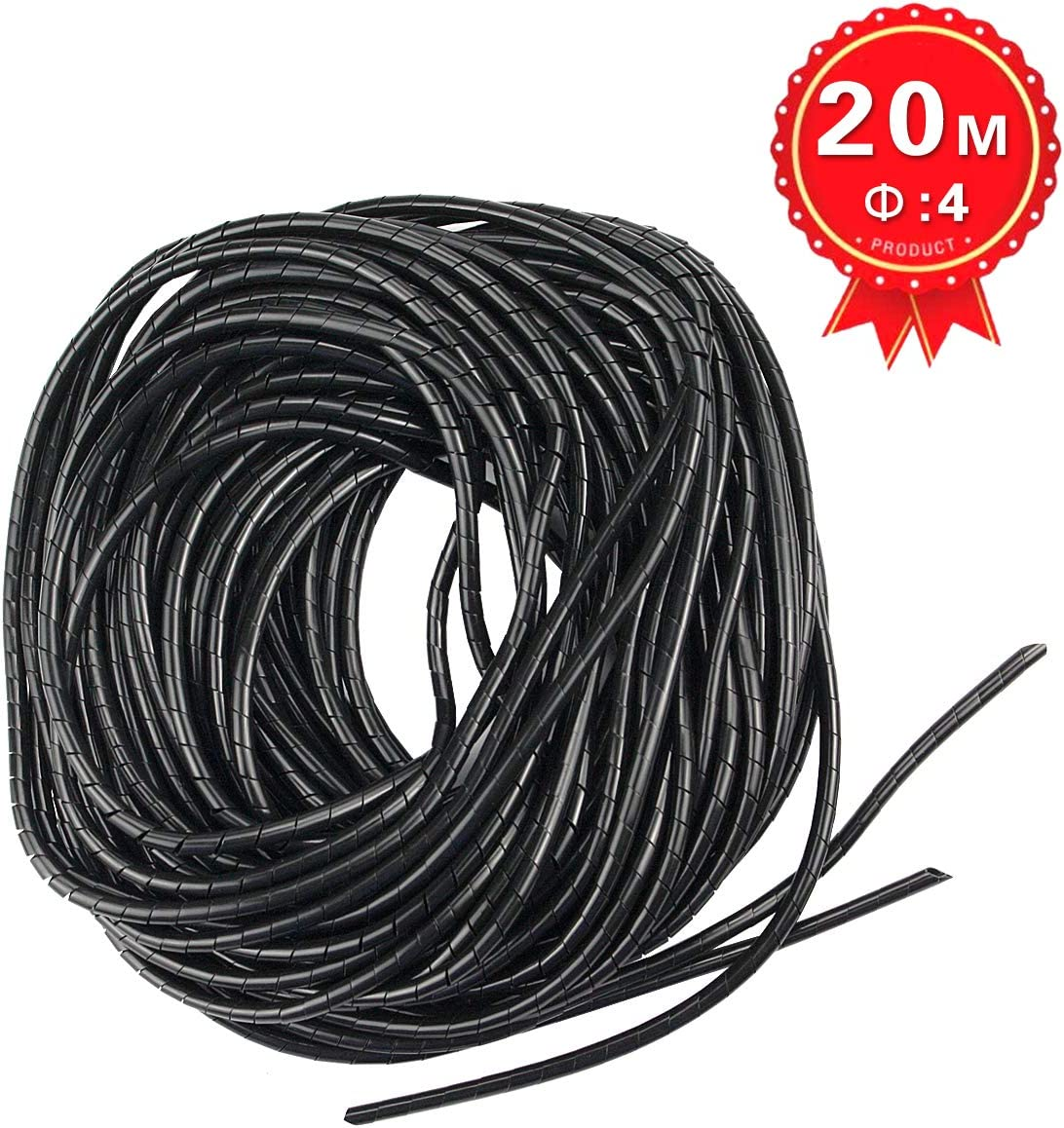 Xhf 4Mm Spiral Cable Wrap Spiral Wire Wrap Cord For C Wrapping Range:1.5Mm-10Mm