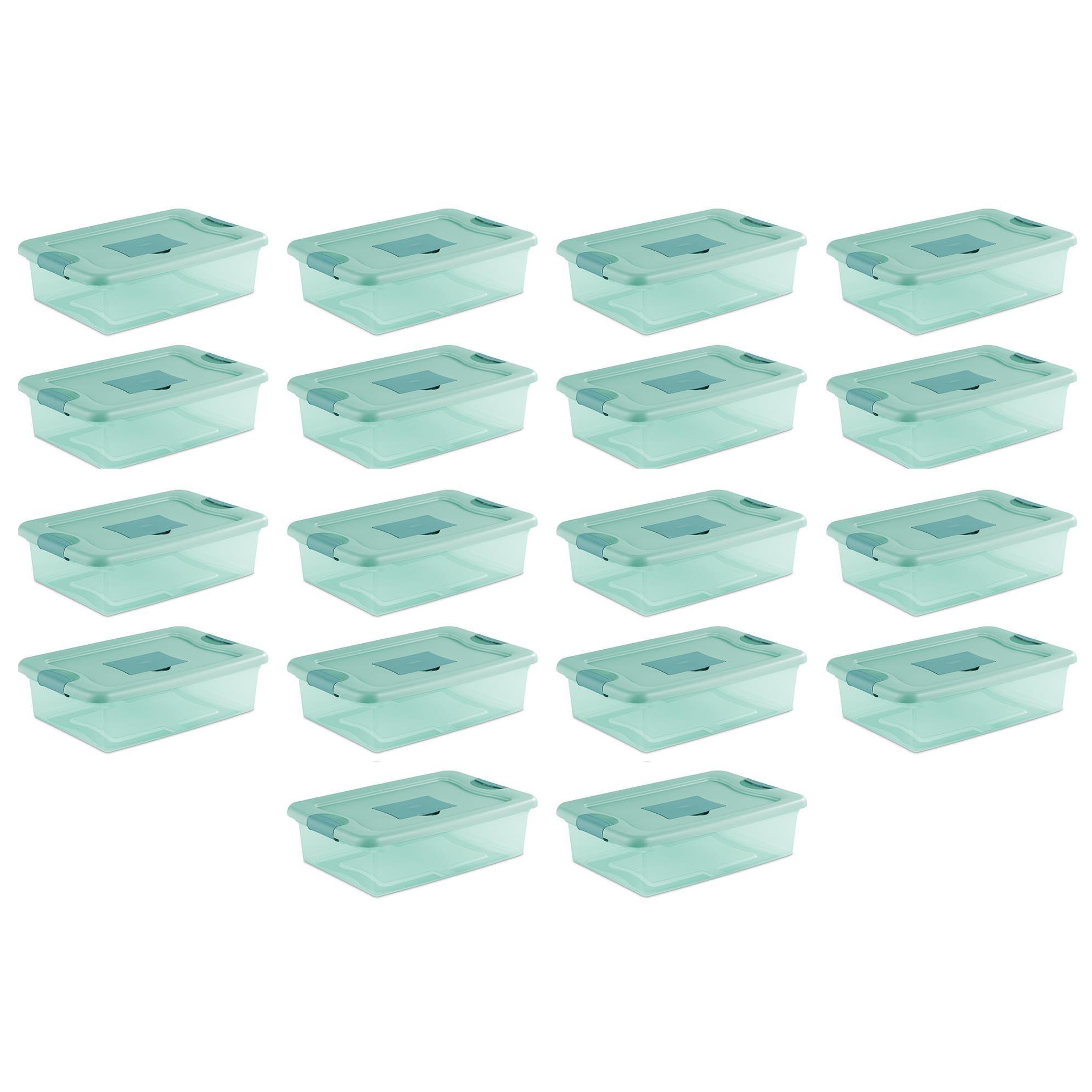 Sterilite 32 Quart Fresh Scent Stackable Plastic Storage Box Container (18 Pack)