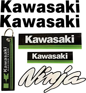 LLAP Motorcycle Decals Stickers Keychain Set for Kawasaki Ninja ZX-10R (6 Packs)