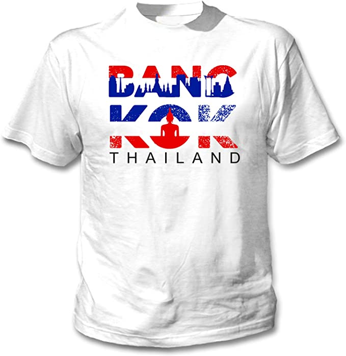 teesquare1st Bangkok Thailand Camiseta Blanca para Hombre de ...