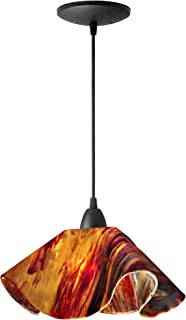 product image for Jezebel Signature Lily Pendant Large. Hardware: Brown. Glass: Begonia