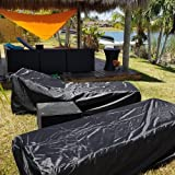 Hootech Set of 2 Patio Chaise Lounge Cover Heavy
