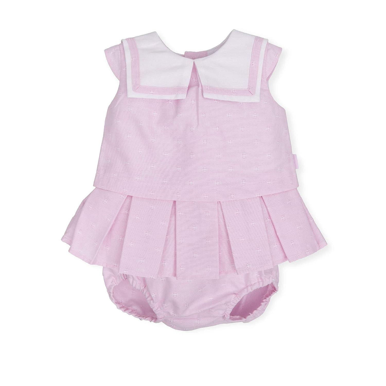 Color Rosa Tutto Piccolo 6216S19 Vestido Beb/é y Ni/ña con Braguita Algod/ón Tallas de 3 Meses a 4 a/ños