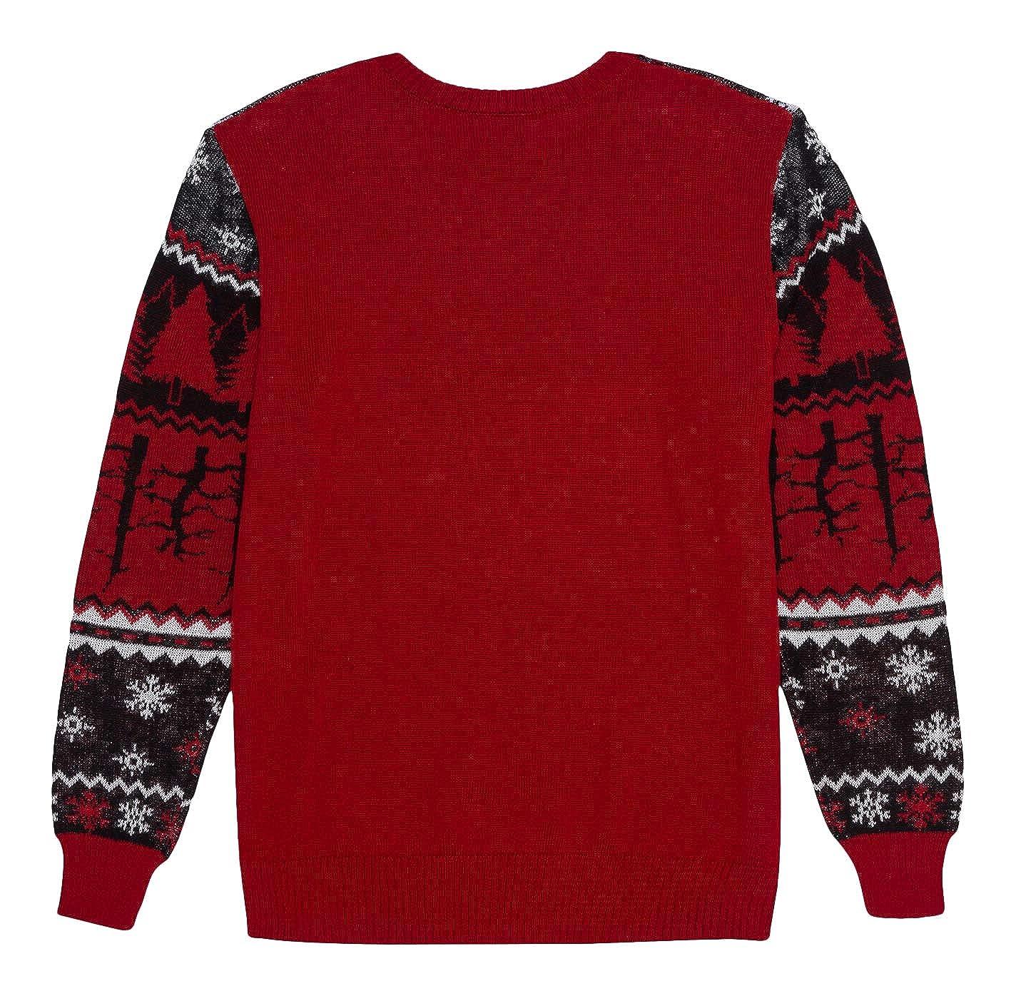 Stranger Things Christmas Sweater.Stranger Things Men S Ugly Christmas Holiday Flip Sequin