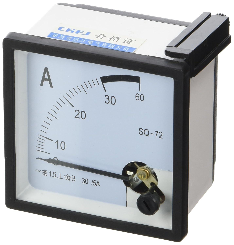 Diseñ o cuadrado hecha de montaje Vane 0-30A AC analó gico amperí metro 72 mm x 72 mm Sourcingmap a14052400ux0071