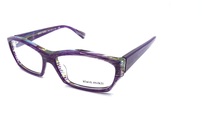 f5168b5815 Amazon.com  Alain Mikli Rx Eyeglasses Frames A01264 4426 57x15 Dot Violet  Thread Italy  Clothing