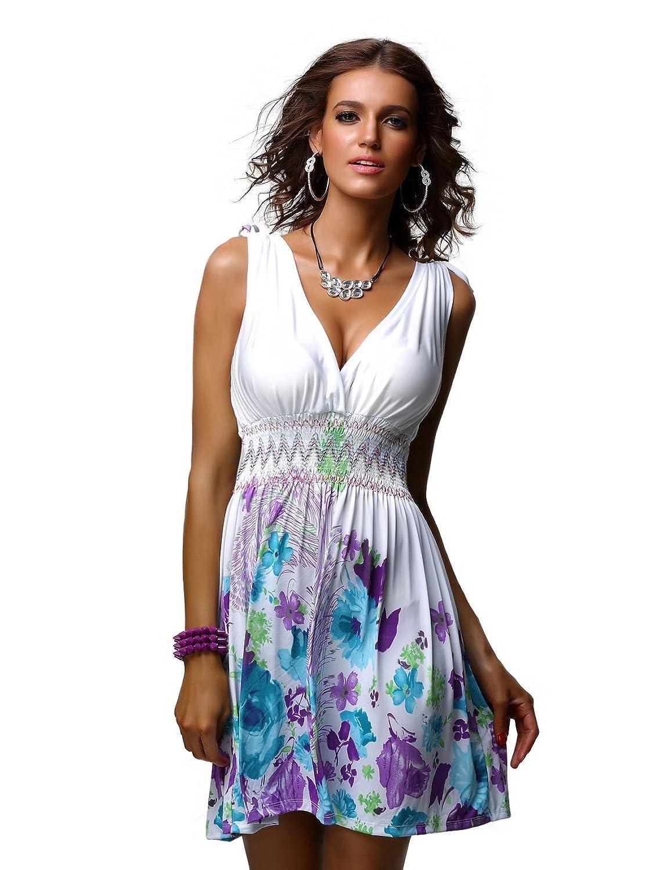 Charm Your Prince Women&39s Sleeveless Summer Sun Dress at Amazon ...