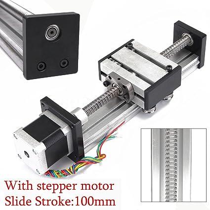 Amazon com: Ball Screw 1204 Linear Slide Stroke 100MM Long Stage