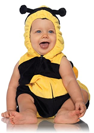 leg avenue anne geddes bumble bee baby padded body suit with zipper closure black