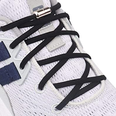Elastic No Tie Shoe Laces System with Elastic Laces Black ILIVABLE Elastic No Tie Shoelaces for Kids and Adults One Size Fits All