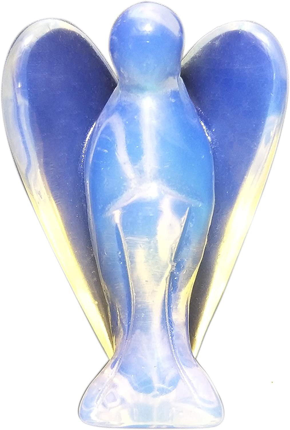 1 Pocket Guardian Angel Statue Figurine Made of Opalite Stone Representing Peace and Harmony