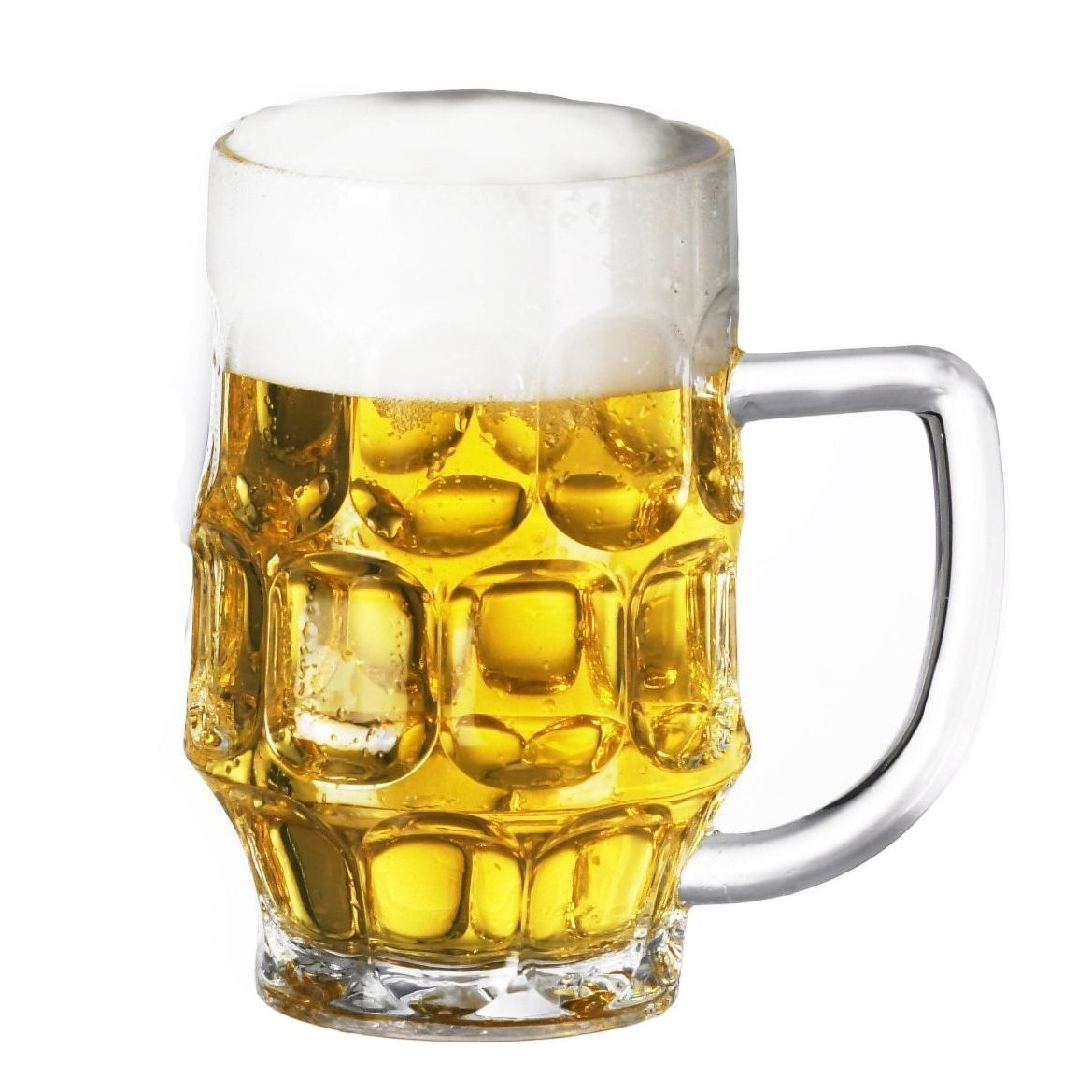 Plastic Beer Mugs, set of 1 Giant 26oz. Great for Daily Use & Oktoberfest. Weighs MERELY 5oz.-EASY to Hold & Handle, STRESSFREE On Your Arm & Fingers!! Dimple Stein & Rugged Acrylic, Shatter Proof USA_Glassware_Mugs