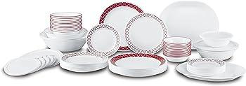 Corelle Livingware 74 Piece Crimson Trellis Dinnerware Set