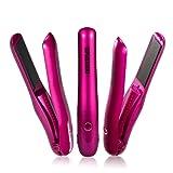 NexGadget ヘアアイロン コードレスストレート 2900mAhモバイルバッテリー USB充電式 高温170℃ (ピンク)