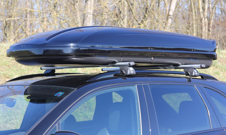 Dachbox Schwarz Gläzend Vdp Maa580 Großer Dachkoffer 580 Liter Abschließbar Auto