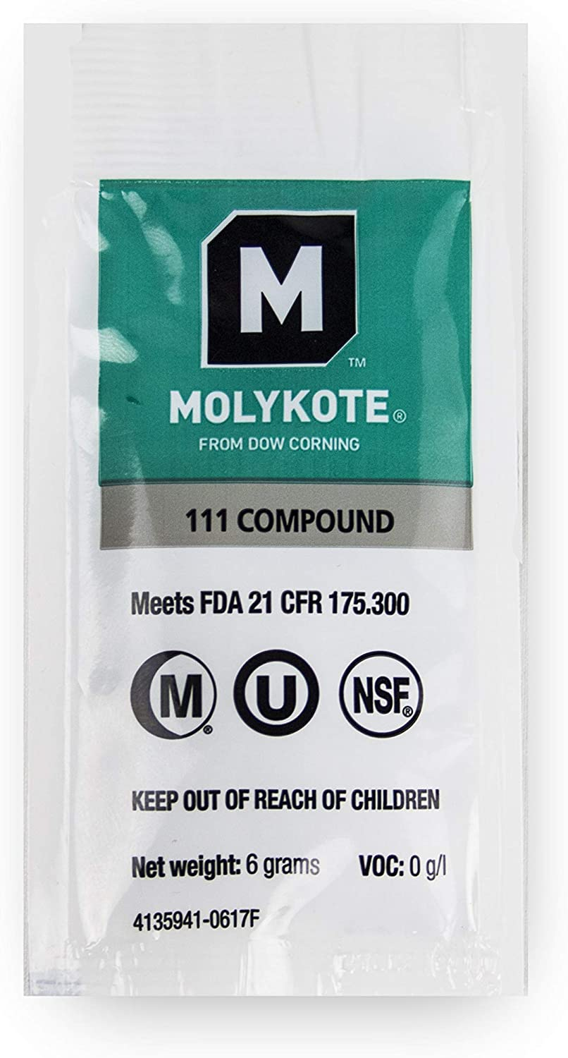 Dow Corning Molykote 111 Food Grade Lubricant Compound - 6 grams 1 Pack