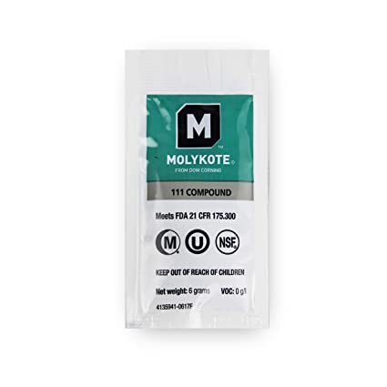 Dow Corning Molykote 111 Food Grade Lubricant Compound 6 Grams
