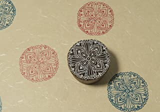 Blockwallah Intricate Mandala Wooden Block Stamp