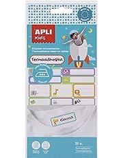 APLI Kids 17793 - Etiquetas textiles termoadhesivas 35 uds.