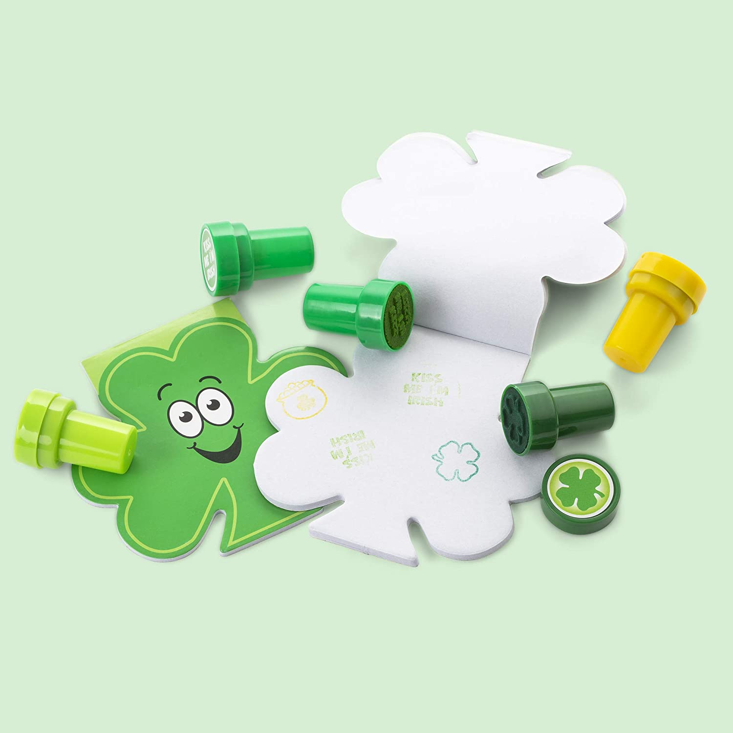12 Assorted Stampers Carnival And Events. Reward Prizes FAVONIR/™ St Patrick/'s Party Favors 24 Gift Pack Shamrock Themed Irish Stationery Set Ideal As Party Favor Fillers 12 Notepads
