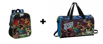 Tortugas ninja - Pack Mochila 28cm + Bolsa de viaje 42cm ...