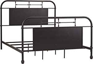 Liberty Furniture Vintage Series Queen Metal Bed, Black