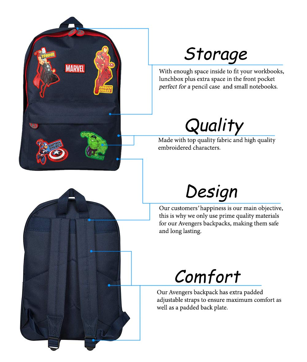 daa36536ad Marvel Avengers Official School Bag for Boys Girls Adults Travel Rucksack  Kids Backpack Captain America Thor Iron Man Hulk  Amazon.co.uk  Luggage