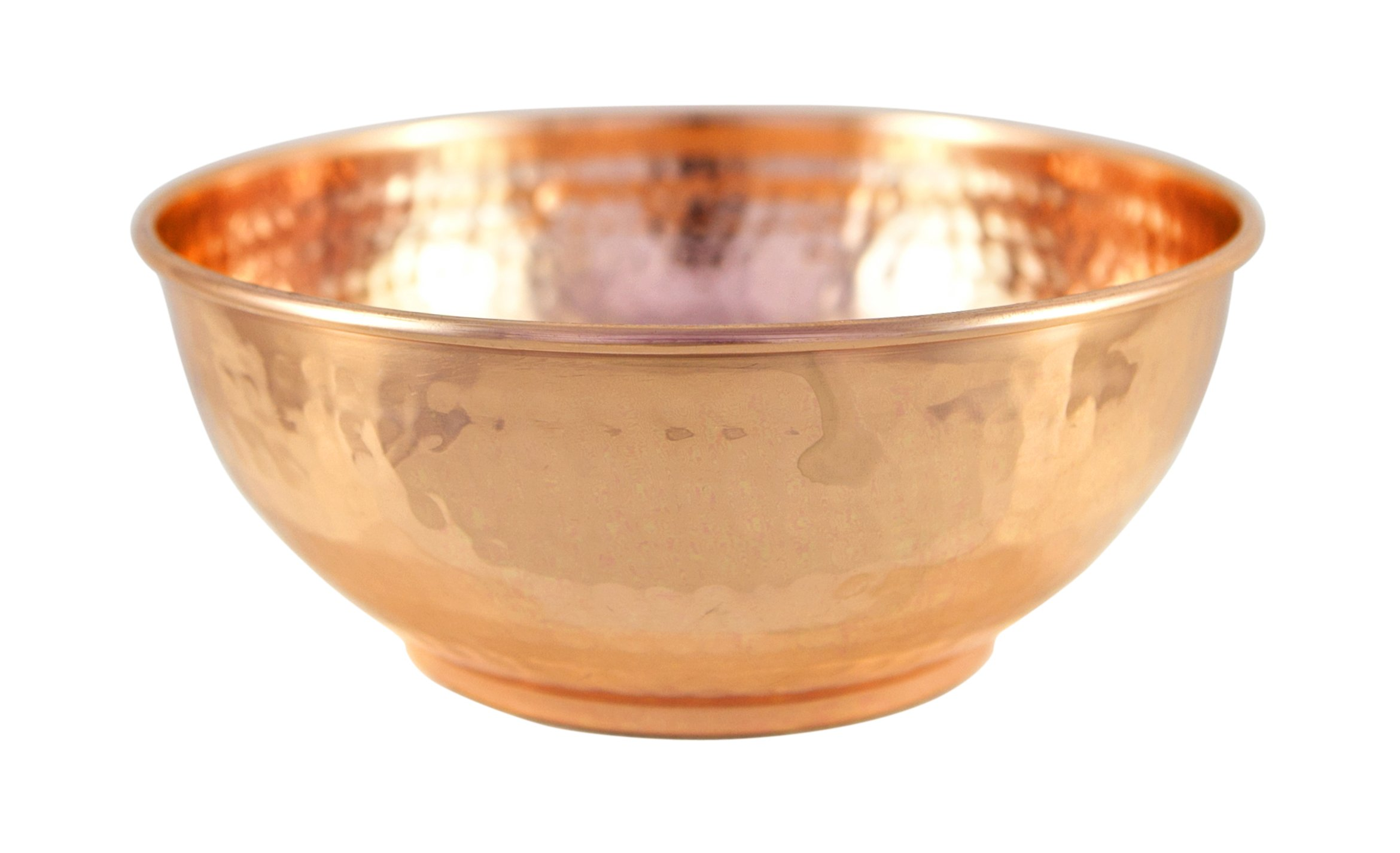 Copper Hammered Mixing Bowl, 100% Pure Heavy Gauge - Multipurpose Use of Antique Copper Serving Bowl For Candy, Salad, Egg Beating - Decorative Copper Bowl For Your Kitchen - 7.5'' Size By Alchemade by Alchemade