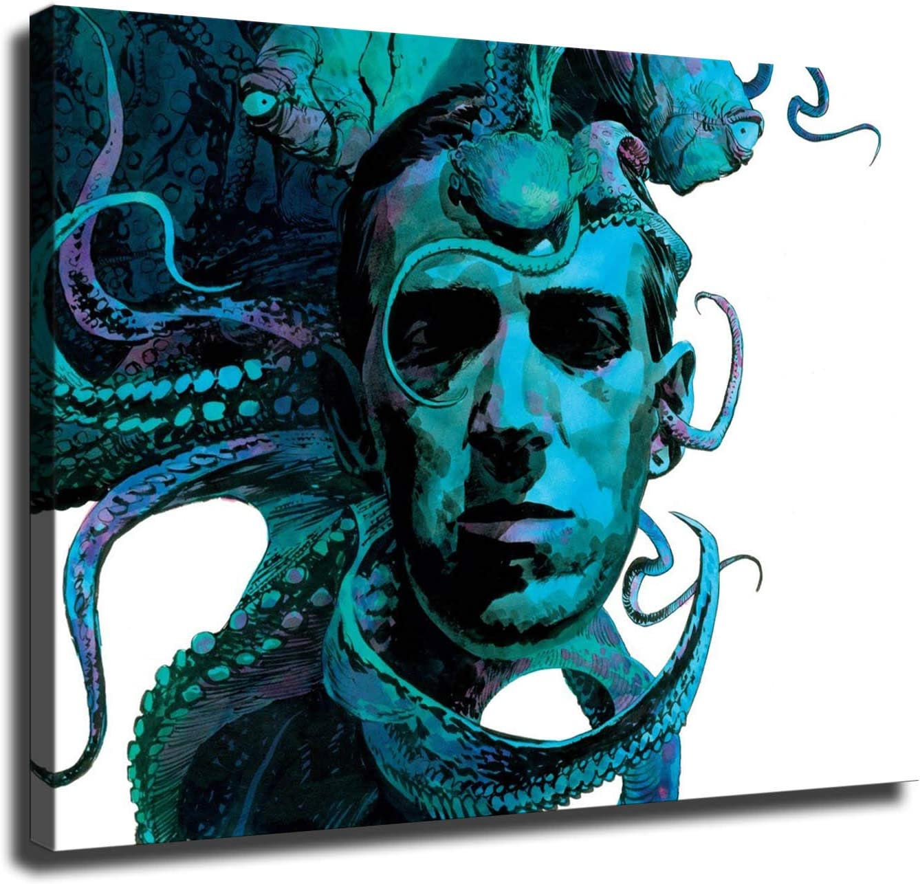 H. P. Lovecraft Canvas Prints Famous Writer Poster Wall Art for Home Office Corridor Decorations unframed 16