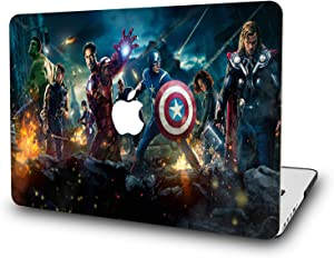 "Case for MacBook Air 13 Inch 2018 - L2W Laptop Accessories Hard Plastic Printed Cover Compatible with Mac Air New 13.3"" with Retina & Touch ID, Model: A1932, Protection Shell of Design Avengers (B)"