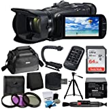 Canon VIXIA HF G40 Full HD Camcorder + Canon Soft Carrying Case SC-A80 + Sandisk 64GB Memory Card + Camera/Video Tripod + Sports Action Grip + Extra Battery + UV Filter Kit + Valued Accessory Bundle
