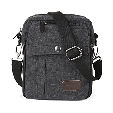 Amazon.com: Zicac Men's Small Vintage Multipurpose Canvas Shoulder ...