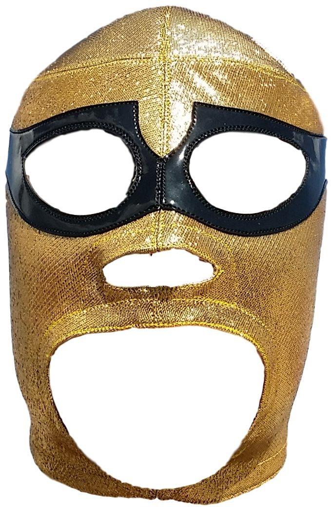 Deportes Martinez Solitario Professional Lucha Libre Mask Adult Luchador Mask Golden
