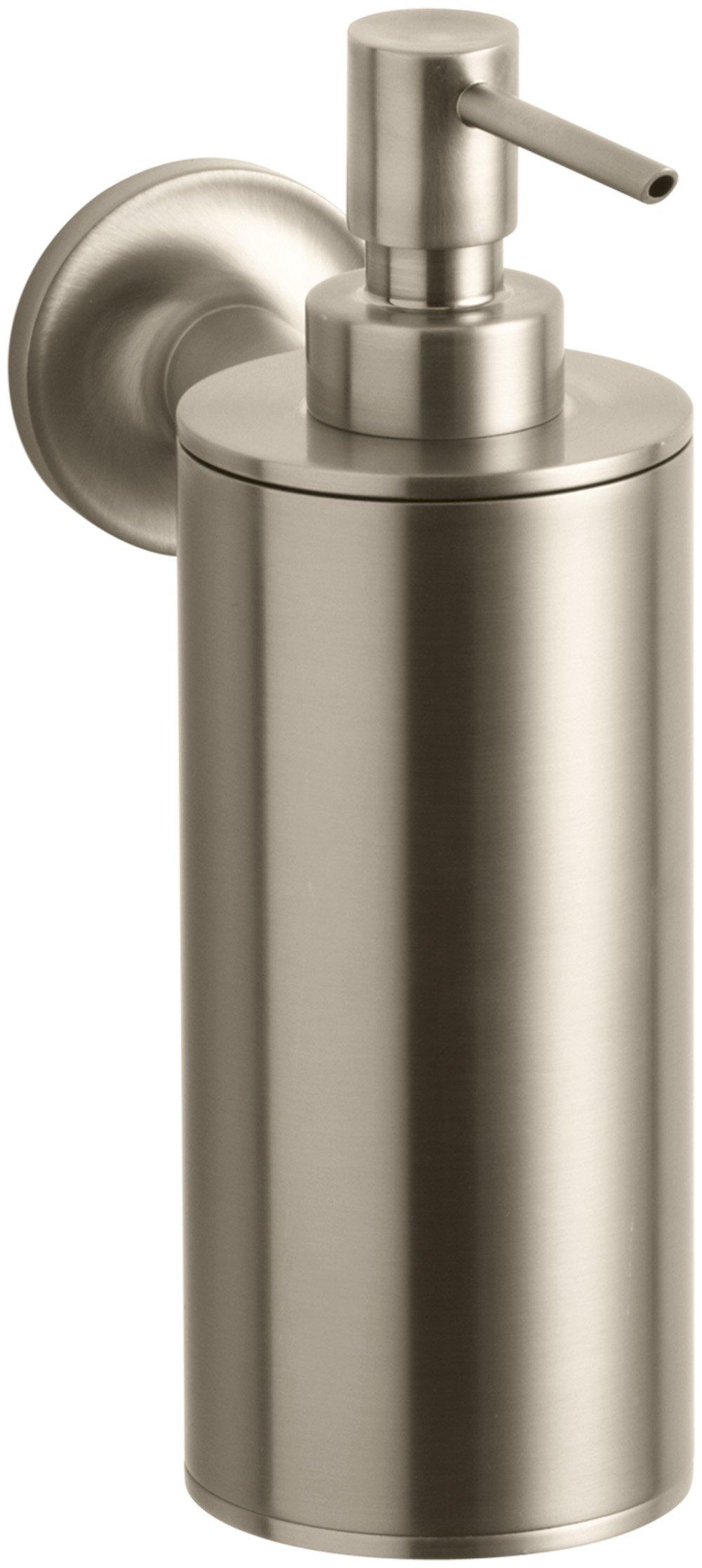 Kohler K-14380-BV Purist Wall-Mounted Soap Dispenser, Vibrant Brushed Bronze